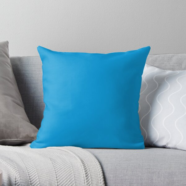 Neon fluorescent Blue / 70 Shades of Blue Here Throw Pillow