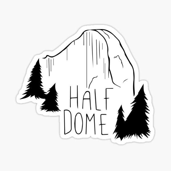 HALF DOME Sticker