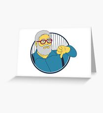 Yankees Thumbs Down Guy Greeting Card