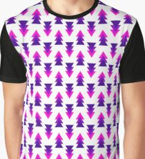 Arrows Pattern Pink Forest Graphic T-Shirt