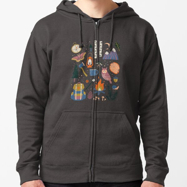 Into the Woods Zipped Hoodie