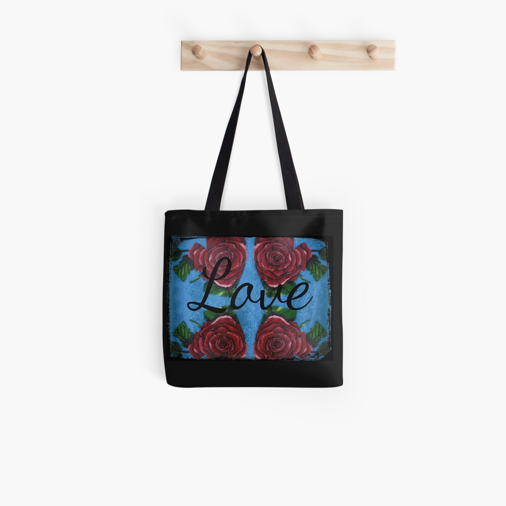 Four Roses And Hearts with Love Tote Bag