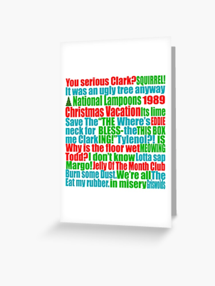 Christmas Vacation Quotes Tree.Christmas Vacation Quotes Greeting Card