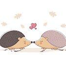 Hedgehogs Love by zoljo