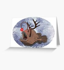 Christmas anglerfish Greeting Card
