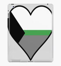 DemiRomantic Flag Heart - Black iPad Case/Skin