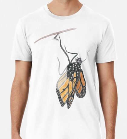 Monarch Butterfly emerging from its Chrysalis Premium T-Shirt