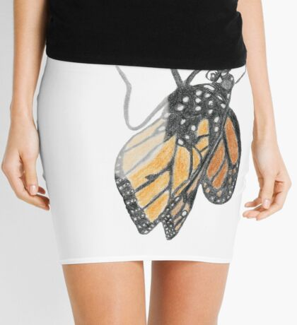 Monarch Butterfly emerging from its Chrysalis Mini Skirt