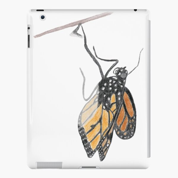 Monarch Butterfly emerging from its Chrysalis iPad Snap Case