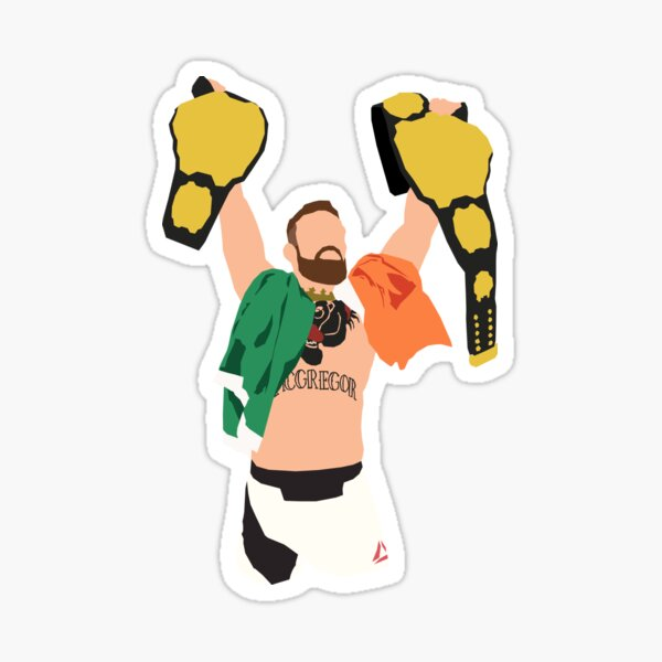 Conor McGregor Double Belt - Minimalistic Sticker