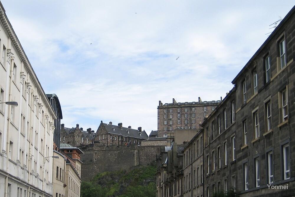 Edinburgh Castle from Cornwall Street by Yonmei