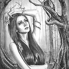 Ancient Tree Woman Fantasy Art Goddess Art Forest by Deanna Davoli