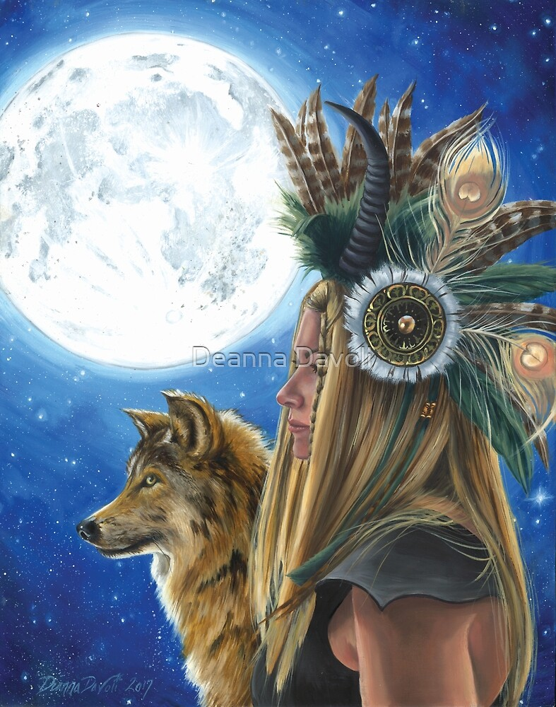 Quot Viking Woman Wolf Art Native American Art Moon Song Quot By