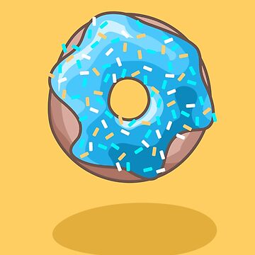 Cute Blue Donut by XOOXOO