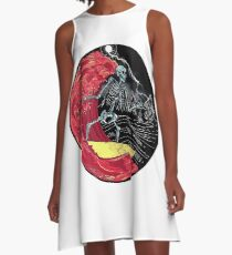 Death Skull On Hell A-Line Dress