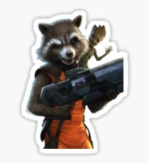 Rocket and Groot Sticker