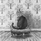 Cheshire Cat Art Alice in Wonderland Art Fairy Tale Art by Deanna Davoli