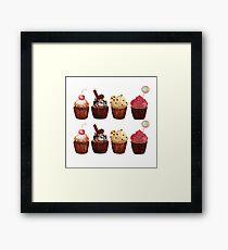 Watercolour Cupcake Set Framed Print