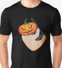 Lazy Sloth with Jack O Lantern Halloween Head T-Shirt