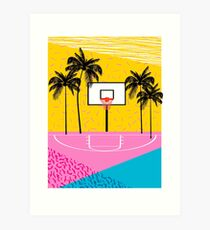 Dope - memphis retro vibes basketball sports athlete 80s throwback vintage style 1980's Art Print