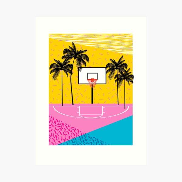 Dope - memphis retro vibes basketball sports athlete 80s throwback vintage style 1980's Art Print