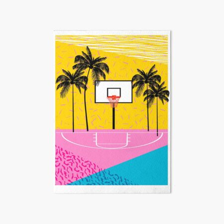 Dope - memphis retro vibes basketball sports athlete 80s throwback vintage style 1980's Art Board Print