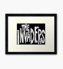 The Invaders vintage style logo Framed Print