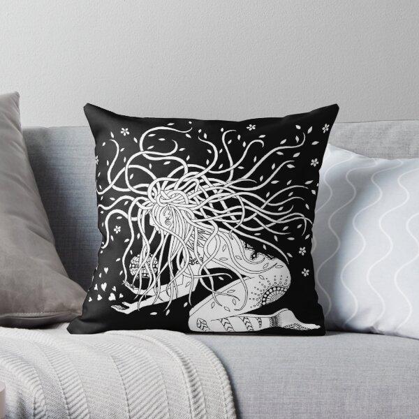 White protector Throw Pillow
