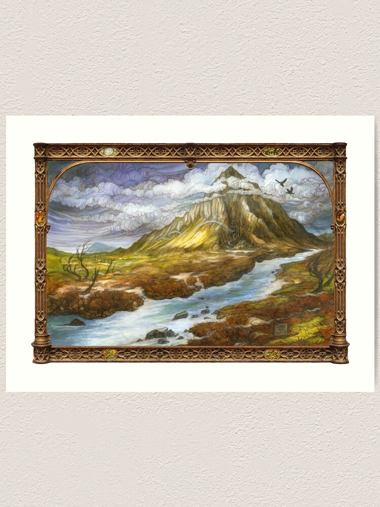 Alternate view of The Lonely Mountain Art Print