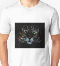 Sleeping Cat Rainbow (Square) T-Shirt