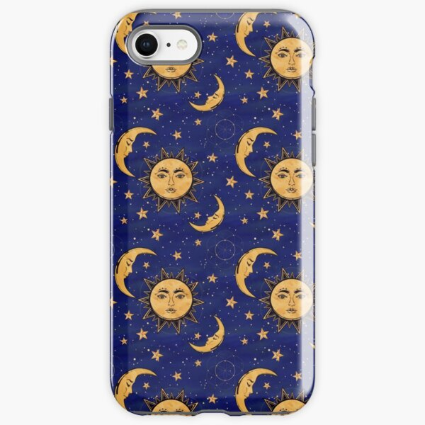 Vintage moon and sun stars celestial iPhone Tough Case