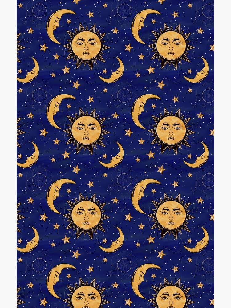 Vintage moon and sun stars celestial by AstralFae