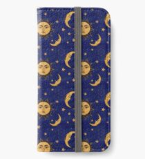 Vintage moon and sun stars celestial iPhone Wallet/Case/Skin