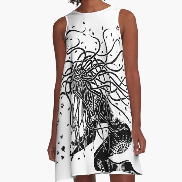 Black protector A-Line Dress