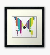 Butterly Blot Multi Color Framed Print