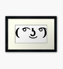 ( ͡° ͜ʖ ͡°) Framed Print