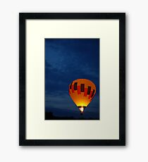 Late night Balloon Ride Framed Print