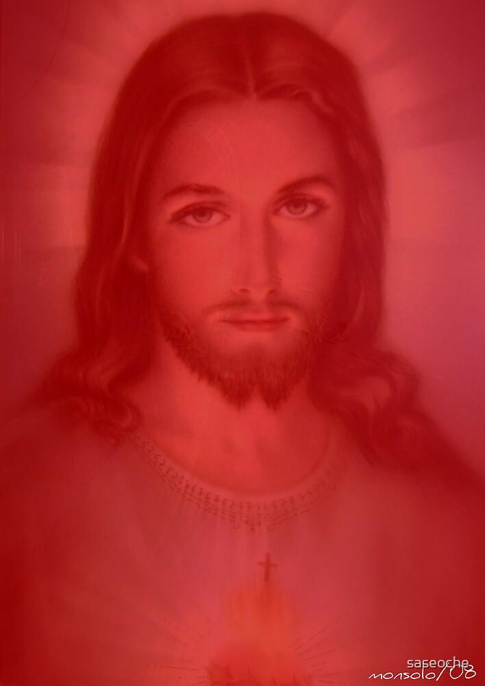 Jesus Sacred Heart by saseoche