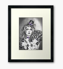 Amethyst Birthstone Art Broken Doll Carnival Doll Art Purple Art Framed Print