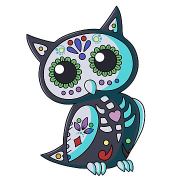 Day of the Dead Owl-Smokey Blue by plaguewolfen