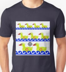 Yellow Duck Target on White Background. Duck in a Shooting Gallery T-Shirt