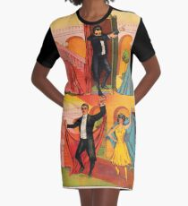 The Amazing Dab and Nae Nae Graphic T-Shirt Dress