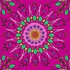 Cheerful Moroccan Flower Pattern  by HoneybethStudio