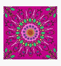 Cheerful Moroccan Flower Pattern  Photographic Print