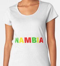 Willkommen in Namibia, haben Sie ein schönes Gefühl! Premium Rundhals-Shirt