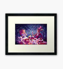 Alice: mad tea party Framed Print
