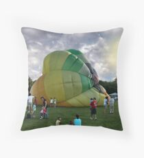 Hotair Balloon And People Throw Pillow