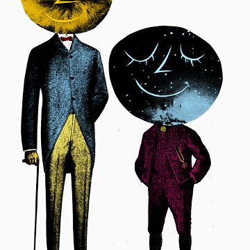 Father Time and Space face boy by BertOlt