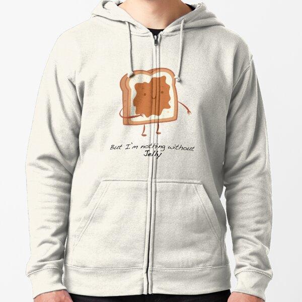 Bread Slice Peanut Butter Sandwich Meal Snack Humor Funny Jelly Hoodie