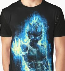 Vegeta Blue Black Graphic T-Shirt